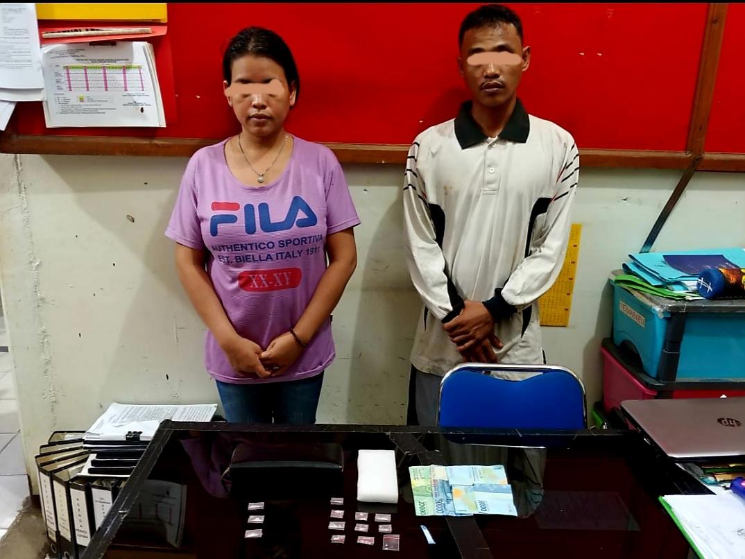 Satuan Resnarkoba Polres Ketapang, Tangkap Sepasang Kurir Narkoba